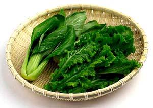 Dark leafy greens, cabbage etc.