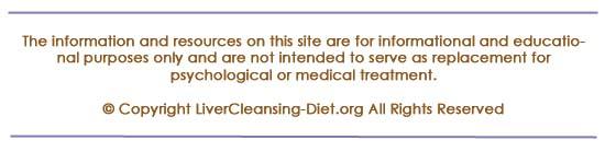 Disclaimer for livercleansing-diet.org