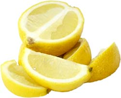 Lemon boats and a lemon cut in half