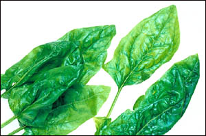 Healthy liver diet with lots of greens like spinach.