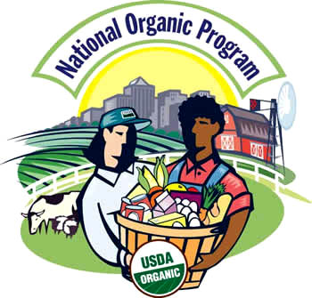 Eating organic foods is an important way to avoid toxins and pesticides: National Organic Program logo.