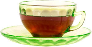 Healthy teas and herbs for your liver: Picture of a cup of tea.