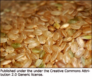 Fiber in terms of whole grains is an important element of a healthy liver diet: Brown rice.
