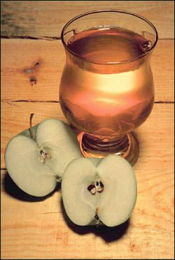 Apple juice is very often included in liver diets.