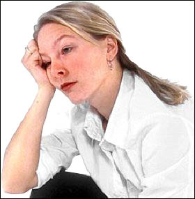 Fatigue can be a sign of liver problems: Picture of tired looking woman